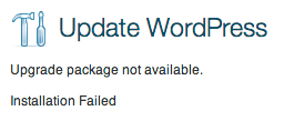 wordpress-update-upgrade-package-not-available